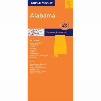 Alabama Rand McNally State Map