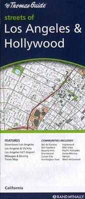Los Angeles & Hollywood Rand McNally Steet Map