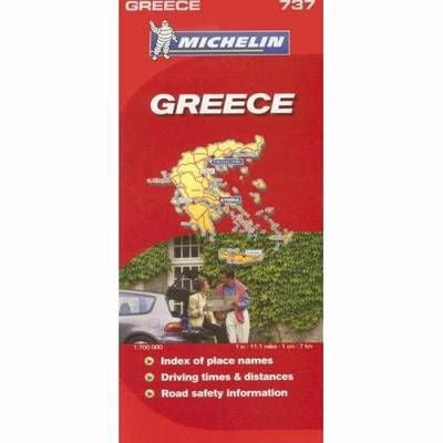 Greece Michelin Map 737