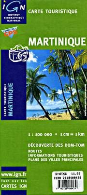 Martinique IGN Travel Map