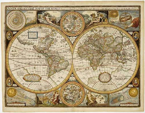 "World Antique Wall Map by Freytag & Berndt 28"" X 36"""