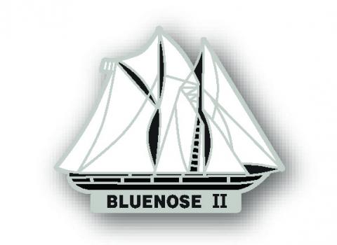 Bluenose II Die Cut Lapel Pin