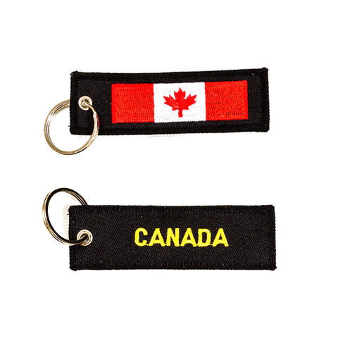 Canada Embroidered Keychain