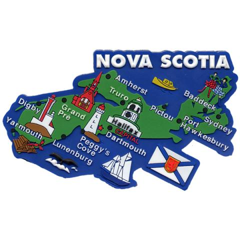 Nova Scotia Map Magnet