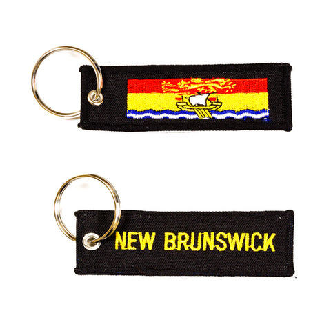 New Brunswick Embroidered Keychain