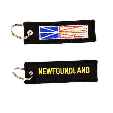 Newfoundland Embroidered Keychain