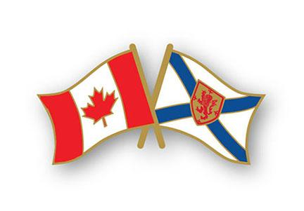 Nova Scotia/Canada Crossed Flags Lapel Pin