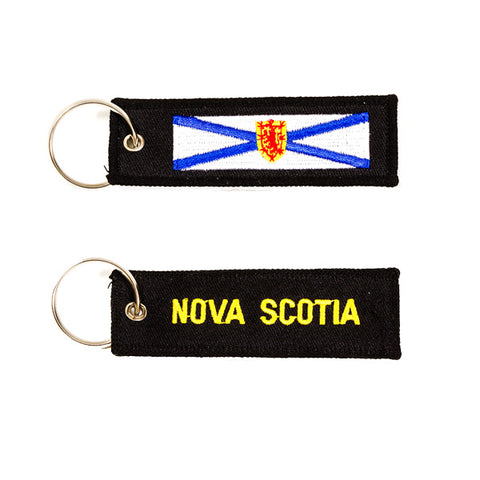 Nova Scotia Embroidered Keychain