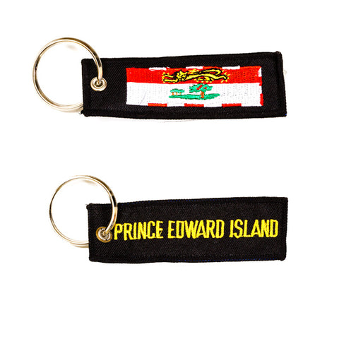 Prince Edward Island Embroidered Keychain