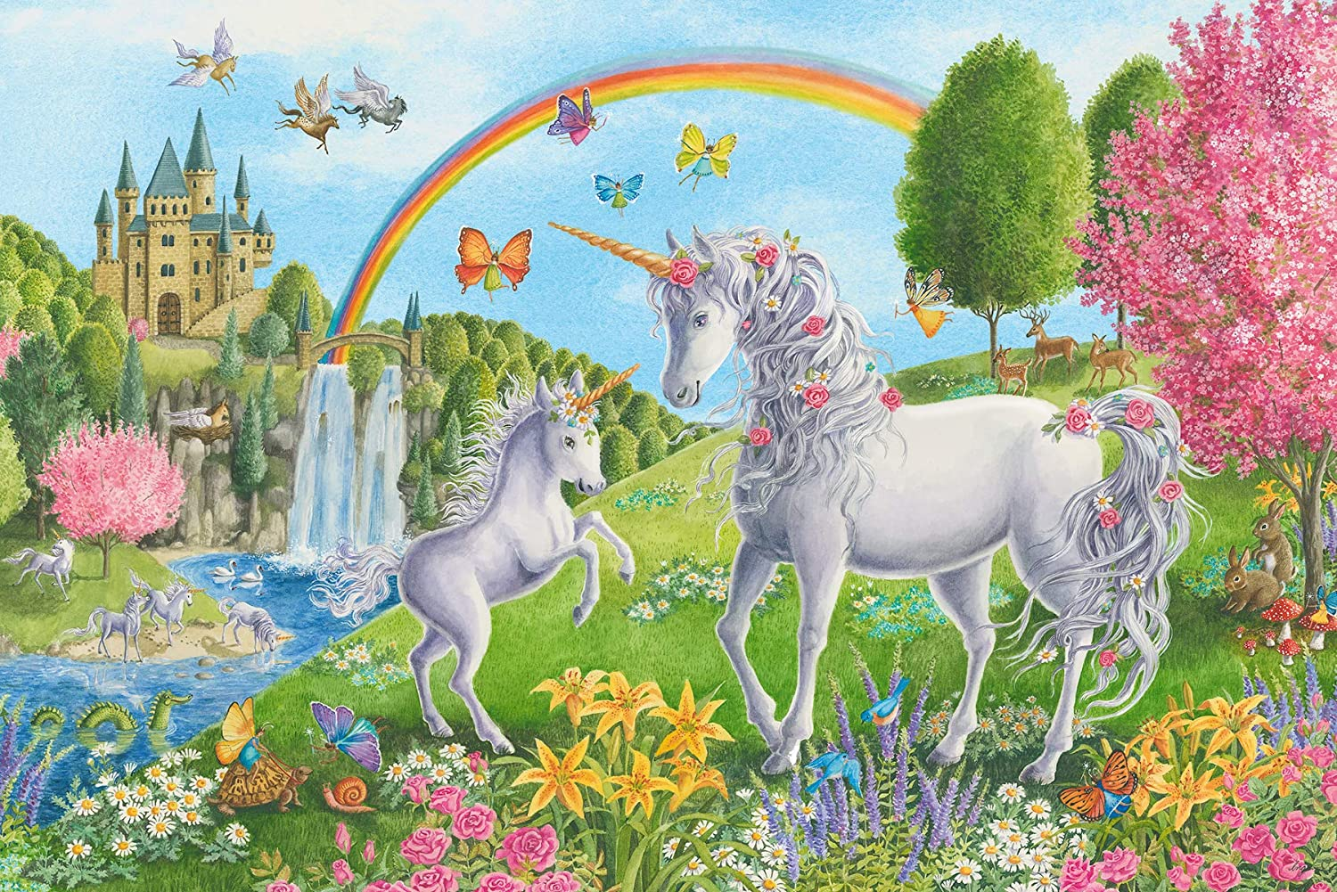 Prancing Unicorns Super Sized Floor Puzzle 24