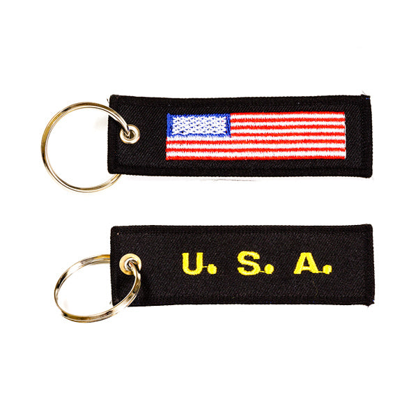 USA Embroidered Keychain