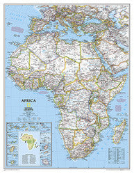 "Africa Classic Wall Map 36"" x 46"""