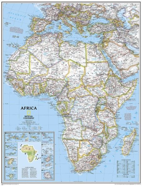 "Africa Classic Wall Map 24"" x 30"""