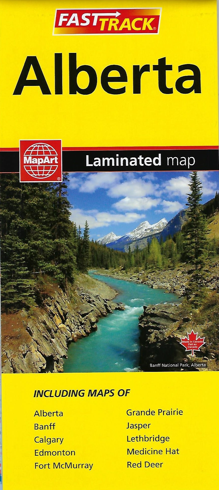 Alberta Fast Track Laminated MapArt Map