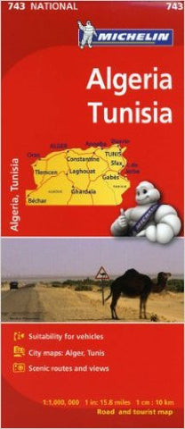 Algeria & Tunisia Michelin Map 743