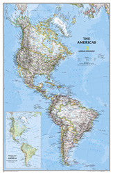 "The Americas Classic Political Wall Map 24"" X 36"""