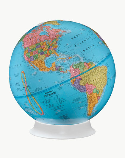 Apollo Blue Political Globe 9""