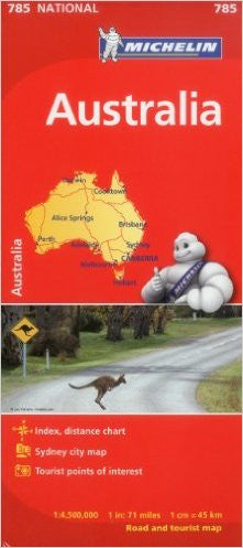 Australia Michelin Map 785