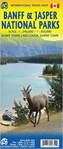 Banff & Jasper National Parks ITM Map 3e
