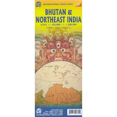 Bhutan & Northeast India ITM Map 5e