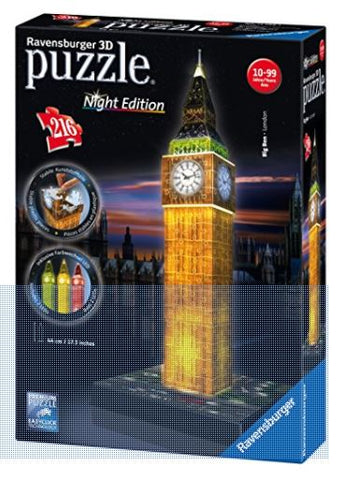Big Ben Night Edition 3D Puzzle 216 pc