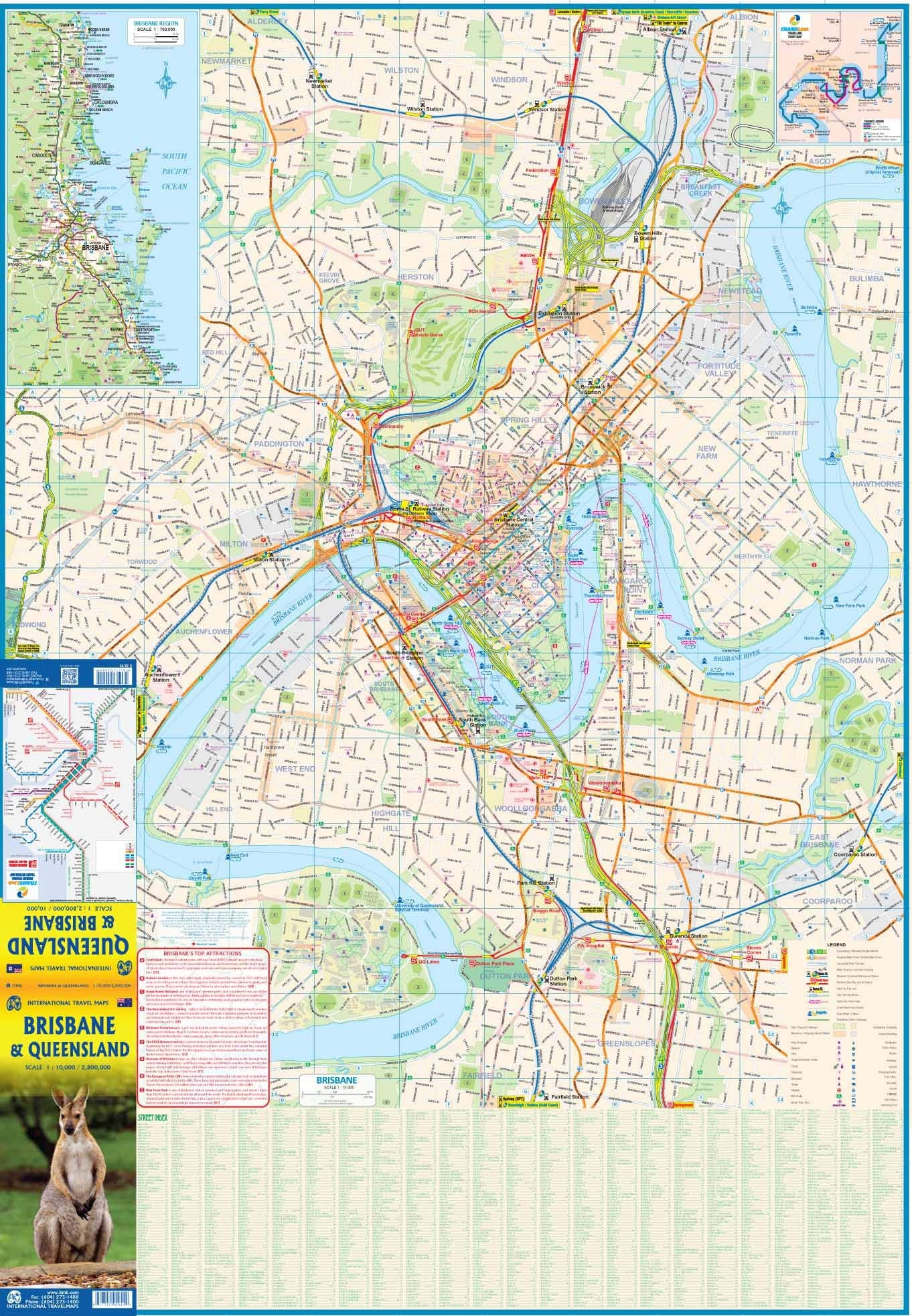 Brisbane & Queensland  ITM Travel Map 2e