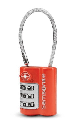 Travel Sentry 3 Dial TSA Cable Lock Red