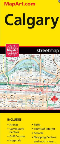 Calgary Fast Track Laminated CCC Map