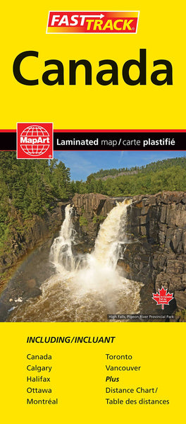 Canada fast track laminated map maps more sciox Image collections