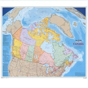 "Canada Political Wall Map  43""x 36"""