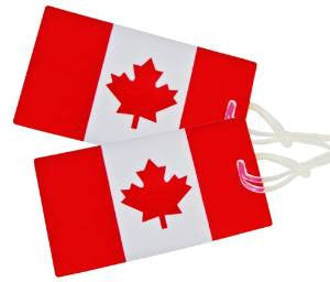Canadian Flag Luggage Tag / set of 2