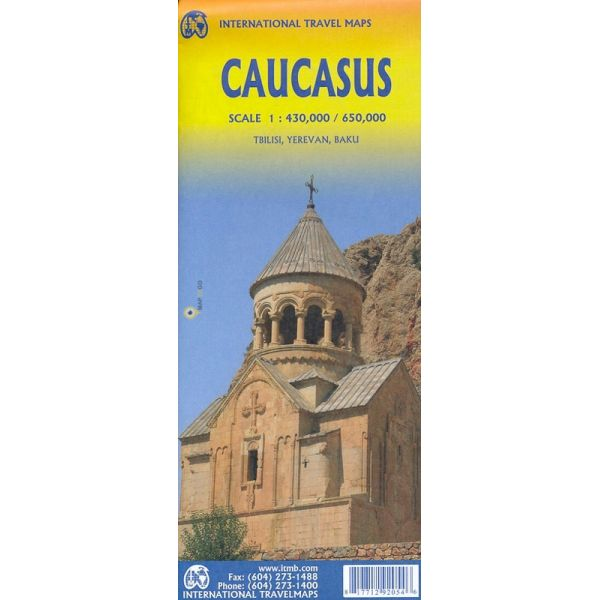 Caucasus  ITM Travel Map 2e