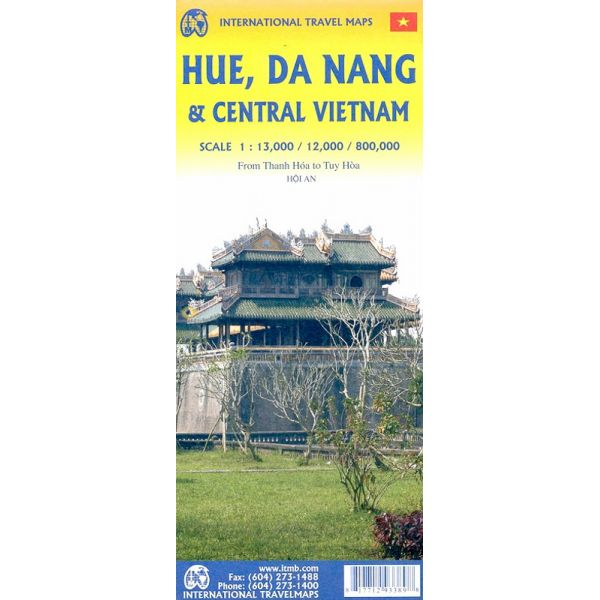 Hue, Da Nang & Central Vietnam ITM Travel Map 2e