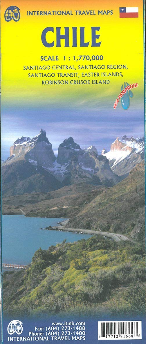 Chile ITM Travel Map 4e