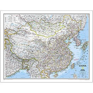 "China Classic Wall Map 24"" X 30"""