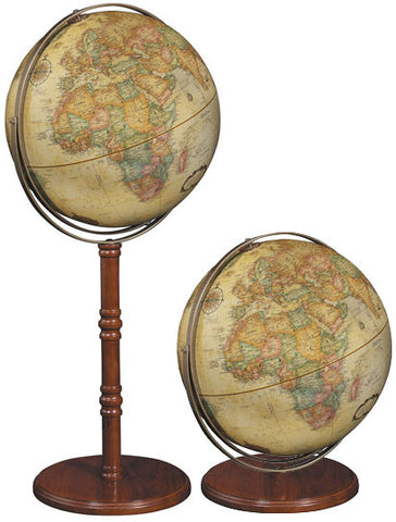 "Commander II 16"" Antique Style Floor Globe"