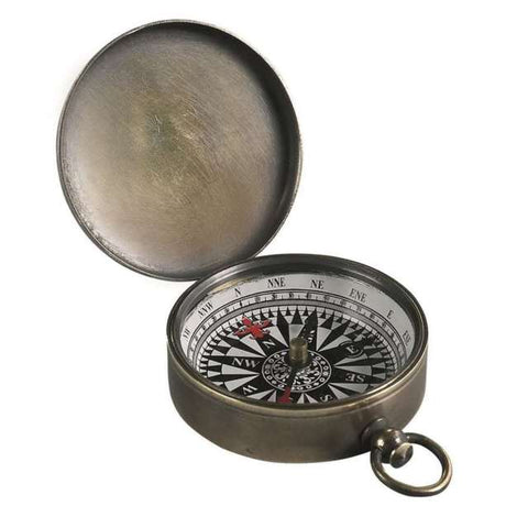 Small Bronze Pocket Compass