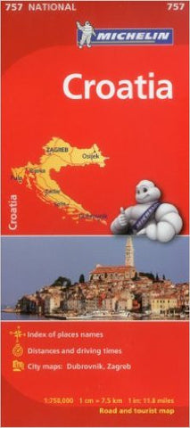 Croatia Michelin Map 757