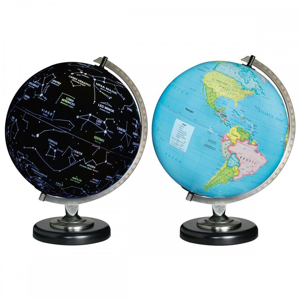 "Day & Night 12"" Illuminated Globe"