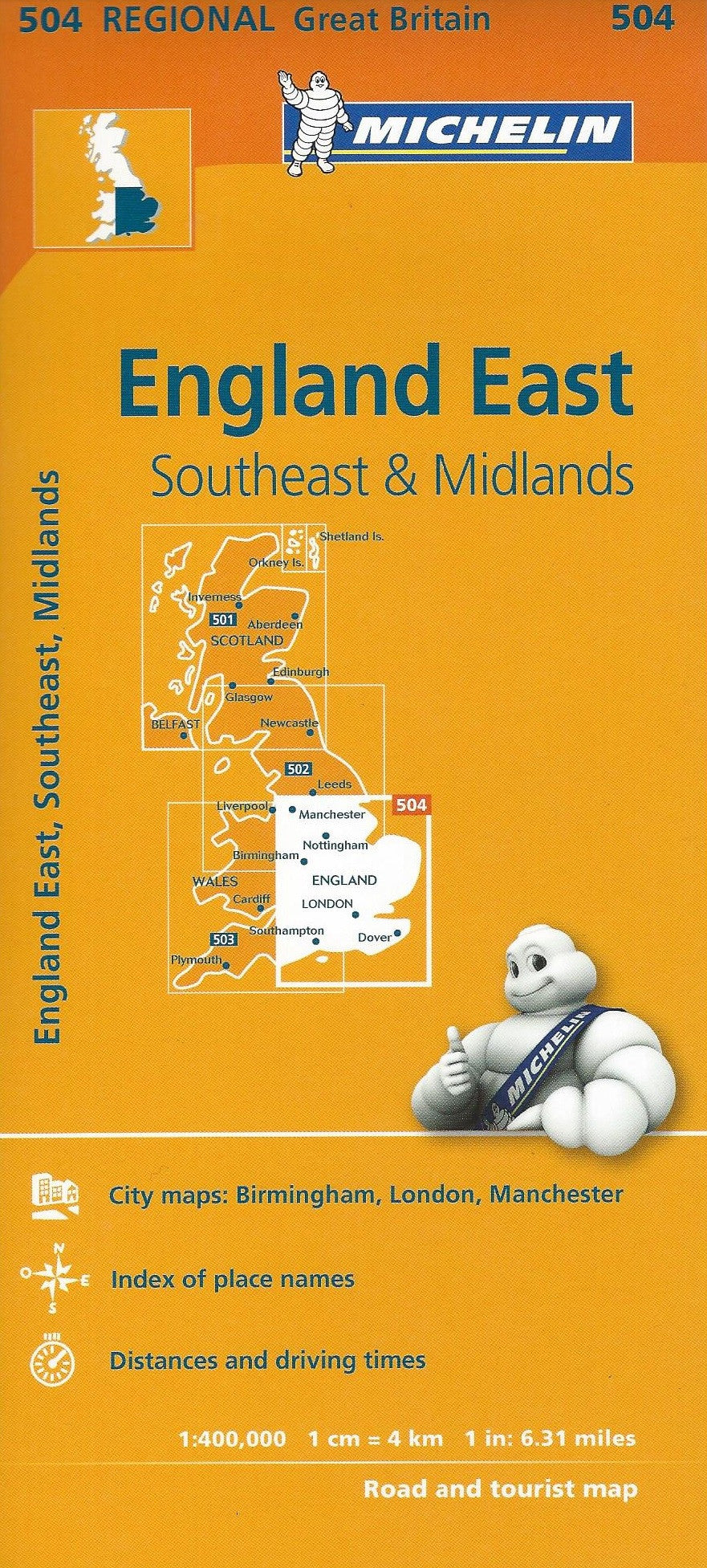 East England, Southeast & Midlands  Michelin Map 504