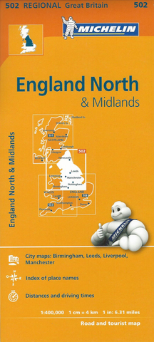 England North & Midlands Michelin Map 502