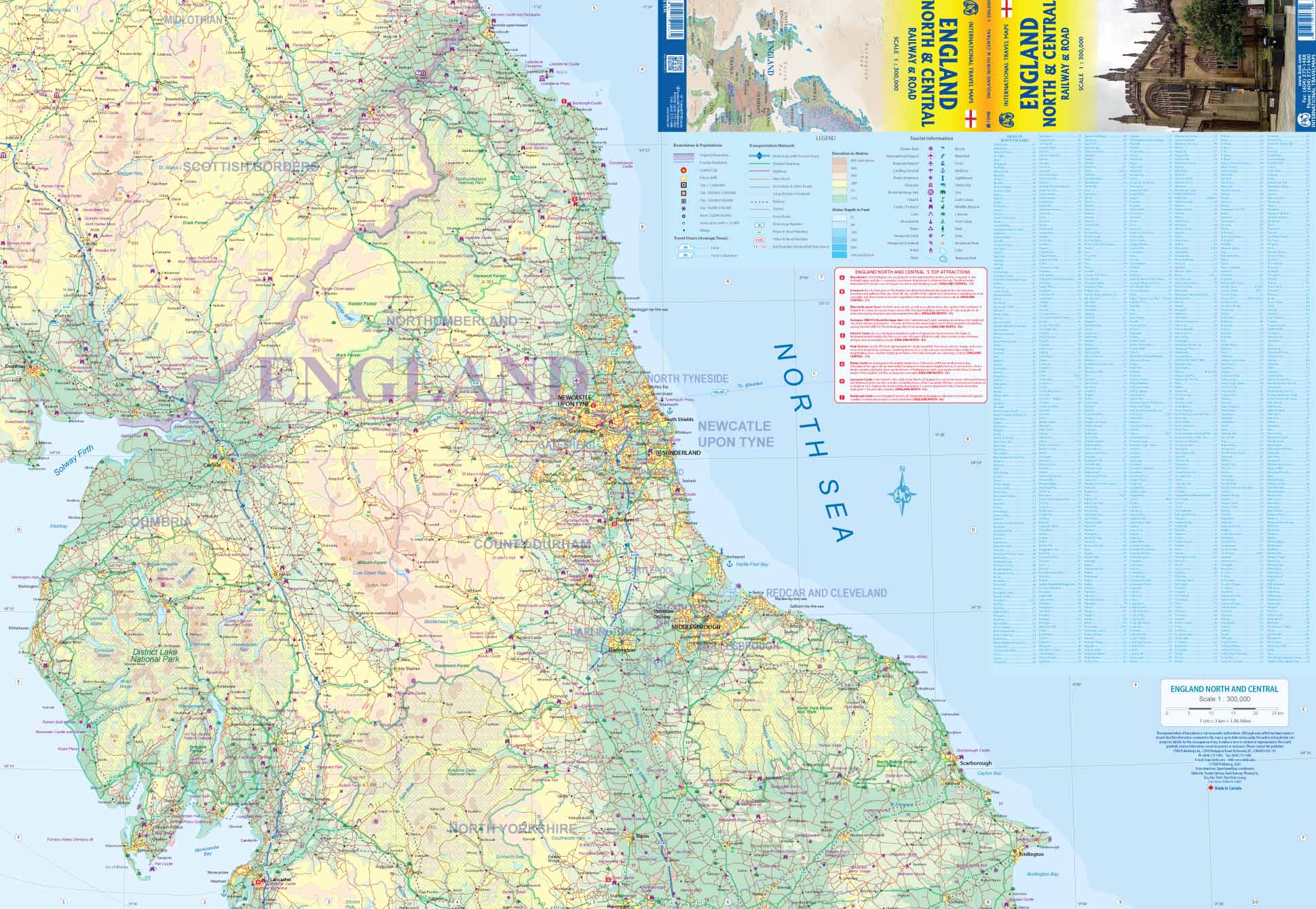 England North & Central ITM Travel Map 1e