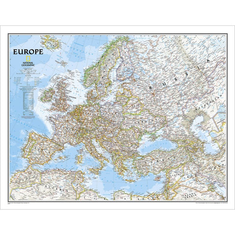 "Europe Classic Wall Map 30"" x 24"""