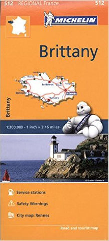 Brittany / Bretagne Michelin Map 512