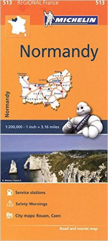 Normandy Michelin Map 513