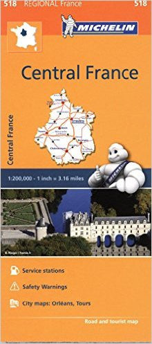 Central France Michelin Map 518