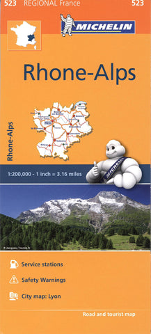 Rhone-Alps Michelin Map 523