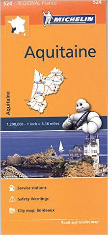 Aquitaine Michelin Map 524