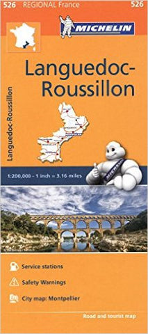 Languedoc-Rousillon Michelin Map 526