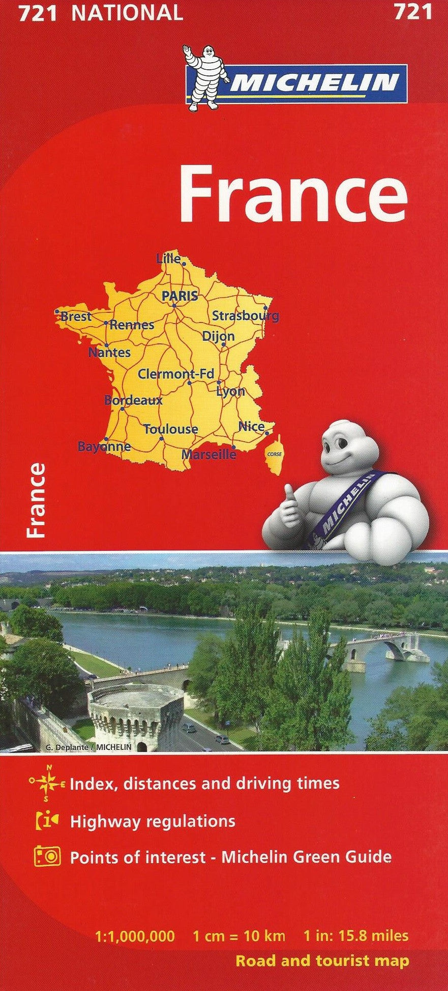 France Michelin Map 721